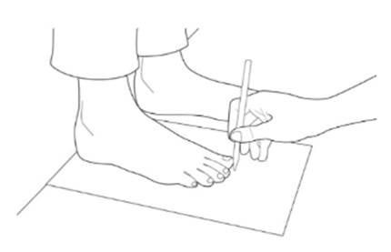 schéma de mesure de pointure